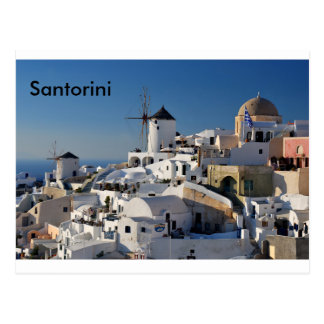 Santorini Leinwand Postkarte
