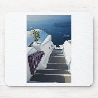 Santorini Oia Schritte, Griechenland Mousepad