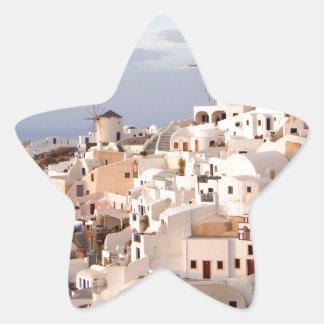 Santorini Schönheit Stern-Aufkleber