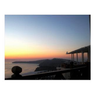 Santorini Sonnenuntergang 2 Postkarte
