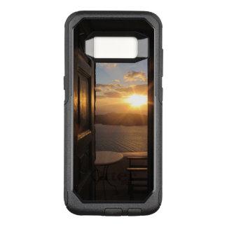 Santorini Sonnenuntergang durch Tür OtterBox Commuter Samsung Galaxy S8 Hülle