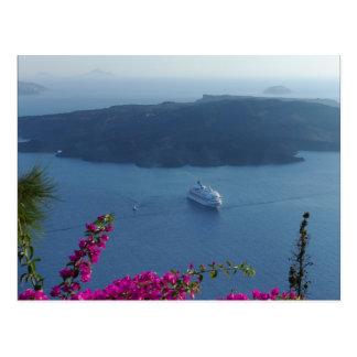 Santorini Wasser Postkarte
