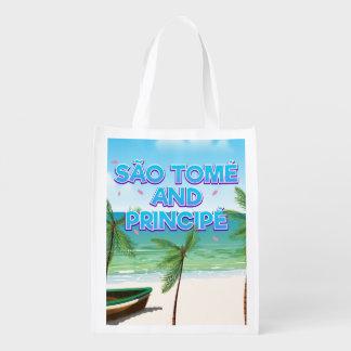 São Tomé und Principé Strand Wiederverwendbare Einkaufstasche