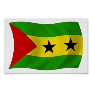 Sao- Tome und Principeflaggen-Plakat-Druck Poster