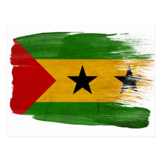 Sao- Tome und Principeflaggen-Postkarten Postkarte