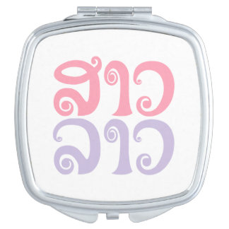 SaoLao ✿ Dame Lao ✿ Laos/laotianische Sprache Taschenspiegel