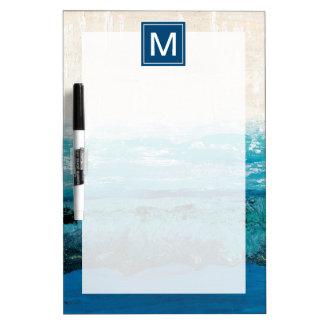 Saphir-Blau-Aquarell Memoboard