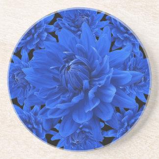 Saphir-blaue Dahlie-Muster-Geschenke Getränkeuntersetzer