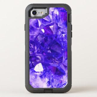 Saphir-blaue funkelnde Kristalledelsteine OtterBox Defender iPhone 8/7 Hülle