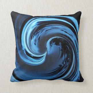 Saphir-blaues Insel-Wellen-Wurfs-Kissen Kissen