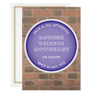 Saphir-Hochzeits-Jahrestags-Party Einladung