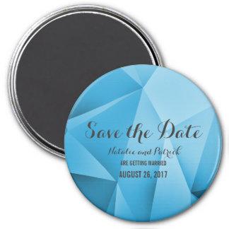 Saphir-Juwel-Ton-Save the Date Magnet Runder Magnet 7,6 Cm