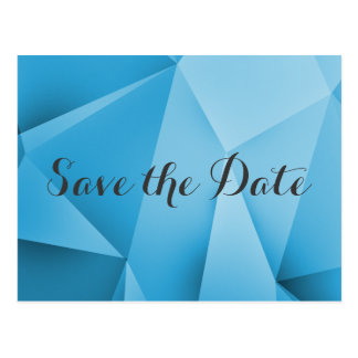 Saphir-Juwel-Ton-Save the Date Postkarte