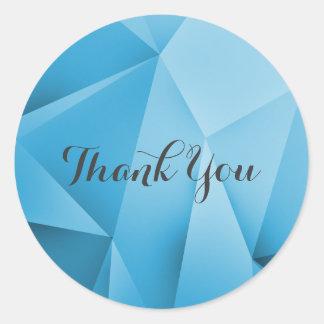 Saphir-Juwel-Töne danken Ihnen Aufkleber