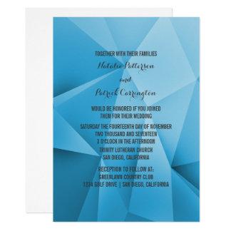 Saphir-Juwel tont Hochzeits-Einladung 12,7 X 17,8 Cm Einladungskarte