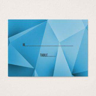 Saphir-Juwel tont Hochzeits-Platzkarten Jumbo-Visitenkarten
