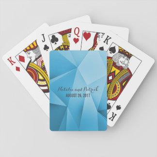 Saphir-Juwel tont Hochzeits-Spielkarten Spielkarte