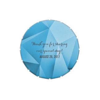 Saphir-Juwel tont Hochzeits-Süßigkeits-Zinn Jelly Belly Dose