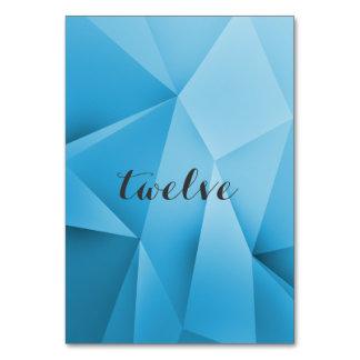 Saphir-Juwel tont Tischnummer-Karte