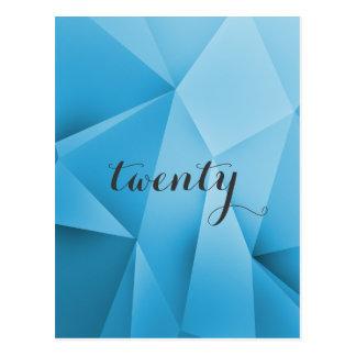 Saphir-Juwel tont Tischnummer-Postkarte Postkarte