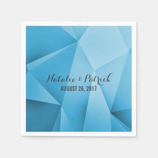 Saphir-Juwel tont Wedding Papierservietten