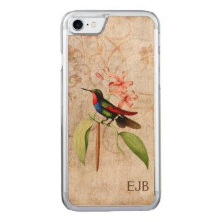 Saphir-Kolibri-Monogramm Carved iPhone 8/7 Hülle