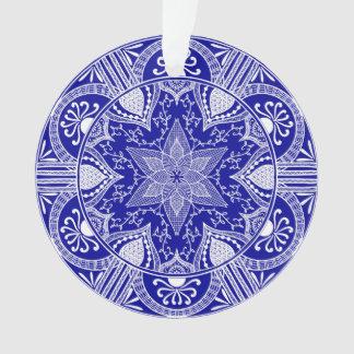 Saphir-Mandala Ornament