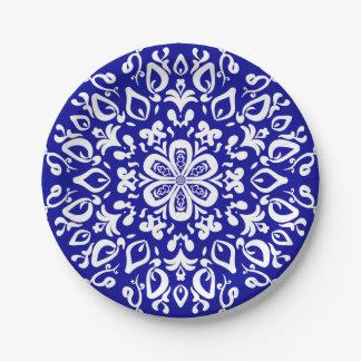 Saphir-Mandala Pappteller 17,8 Cm