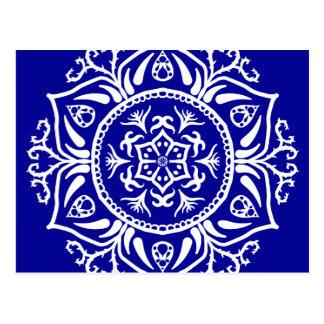 Saphir-Mandala Postkarte