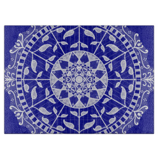 Saphir-Mandala Schneidebrett