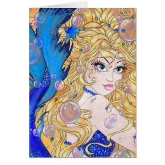 Saphir-Meerjungfrau-Karte Karte