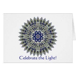 Saphirmandala-Winter-Sonnenwende-Party Einladung Mitteilungskarte