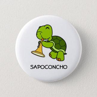 SAPOCONCHO- plattiert Runder Button 5,1 Cm