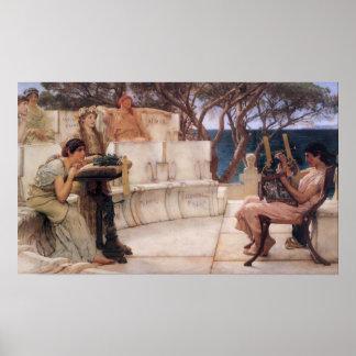 Sappho und Alcaeus Poster