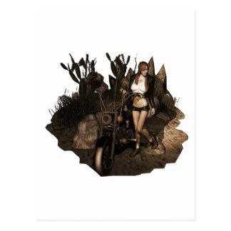 Sara in der Wüste - altes Foto Postkarte