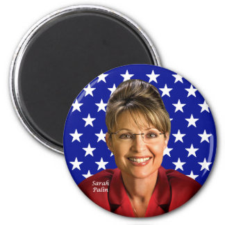 Sara Palin Runder Magnet 5,7 Cm