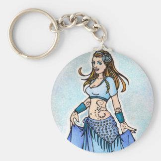 Sarah-Blau Bellydancer Schlüsselanhänger