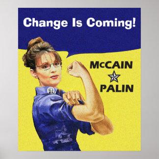 Sarah, die Palin ändern - Rosie Nieteneinschläger  Poster