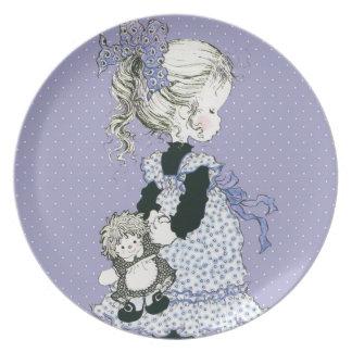 "Sarah Kay schätzen ""Pia-"" Melamin-Platten-Lavendel Teller"