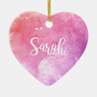 Sarah-Name Keramik Herz-Ornament