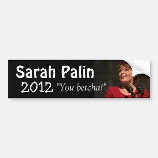 Sarah Palin 2012 Autoaufkleber