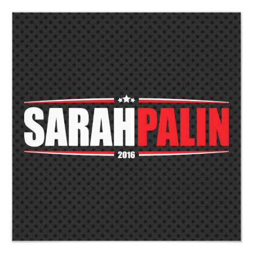 Sarah Palin 2016 (Sterne u. Streifen - Schwarzes) Kunstphoto