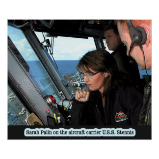Sarah Palin auf U.S.S. Stennis Poster