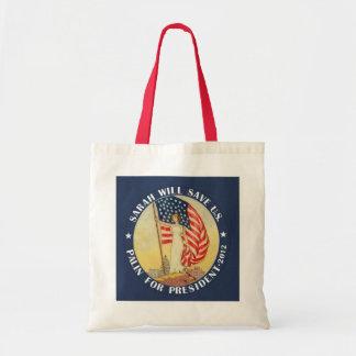 Sarah Palin für Präsidenten 2012 Budget Stoffbeutel