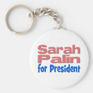 Sarah Palin für Präsidenten Schlüsselkette, Rosa Standard Runder Schlüsselanhänger
