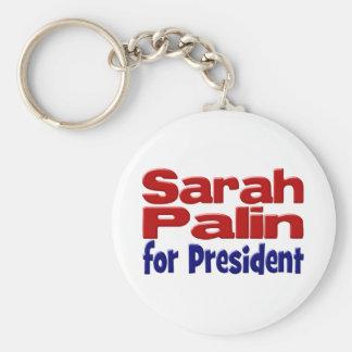 Sarah Palin für Präsidenten Schlüsselkette Standard Runder Schlüsselanhänger
