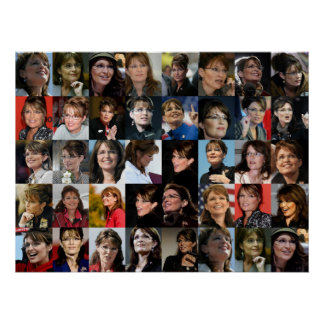 Sarah Palin gerahmt! Foto-Collagen-Plakat Poster