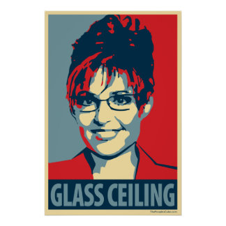Sarah Palin - Glasdecke: OHP Plakat