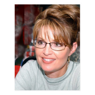 Sarah Palin in Kuwait-Postkarte Postkarte