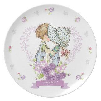 Sarahs Kay Fleur Lavendel der Porzellan-Platten-#3 Melaminteller